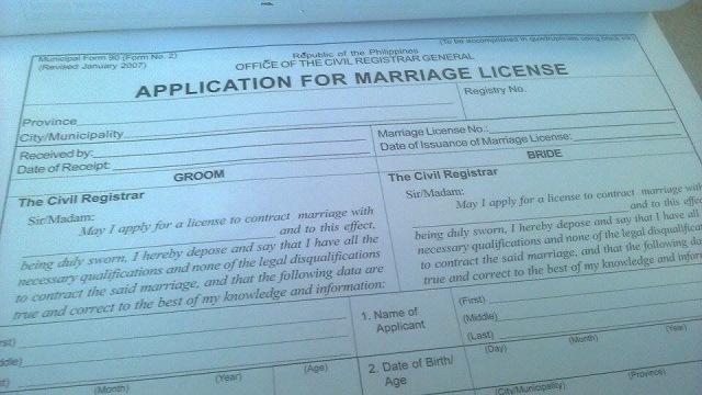 Getting a Marriage License in Mandaluyong | Metro Manila